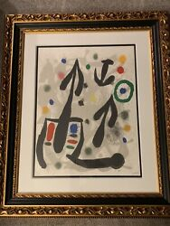 Joan Miro The Perseides Ii Hand Signed From The Collection Of Louis Broder