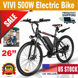 Vivi 26 350w Electric Bike Mountain Bicycle Ebike Shimano 21speed 36v H 97