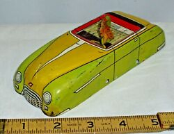 Lupor Tin Toy Car Main Body Part And Driver To Restore In Yellow