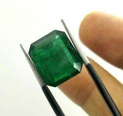 7.74 Ct Natural Emerald Loose Octagon 14x11 Mm Top Quality Zambia Gemstone