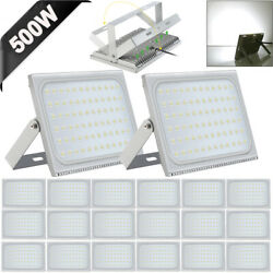 20x 500w Slim Super Power Led Flood Light Cool White Indoor Outdoor Security