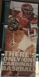 Yadier Molina St. Louis Cardinals Game Used Fox Sports Midwest Vinyl Banner L@@k
