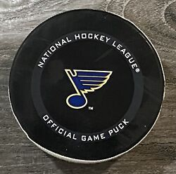Ryan Oandrsquoreilly Game Used Actual First Goal Puck As St. Louis Blues Captain 1/24