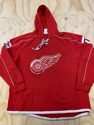 Reebok Nhl Face Off Collection Men Size Xl Detroit Red Wings Pullover Sweatshirt