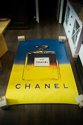 By Warhol Style B 4x6 Ft Bus Shelter Original Vintage Fashion Poster