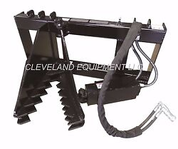 New Hd Tree And Post Puller Attachment Skid Steer Loader Ripper Mustang Case Gehl
