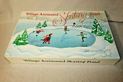 Department 56 Village Animated Skating Pond 52299 Tested Working No Instructions