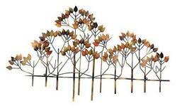 23448 Metal Wall Decor Tree of Life Leaf Floral Accents Wrought Iron Brown