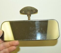 Rear View Mirror Original Domestic Painted Glass Windshield Roof Mount Usa Old