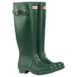 Hunter Tall Green Original Womanand039s Rain Boots Authentic Variation Of Sizes