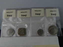 Irag Palm Tree Coinage Pre 9/11 - 8 Coins In Sealed Slips Own A Piece Of Hx