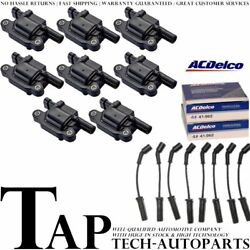 Acdelco Double Platinum Spark Plug + Ignition Coil Wireset For Chevrolet 4.8l V8