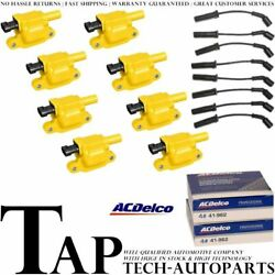 Acdelco Double Platinum Spark Plug + Energy Ignition Coil Wireset For Chevrolet