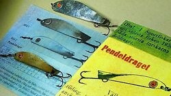 Rare 40and039s Vintage Abu Record Pendeldraget 20g/7.5cm And 35g/10cm Pendulum Lures