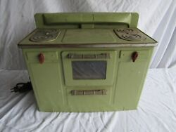 Vintage Empire Electric Stove 245 Kitchen Toy Metal Oven Parts