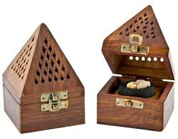 Wooden Burner For Charcoal And Cone - 3x3x4.5 Choose Your Design Us Seller