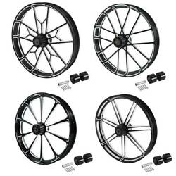 30and039and039 Front Wheel Rim Wheel Hub Dual Disc Fit For Harley Touring Road King 08-21