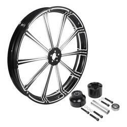 21and039and039 X 3.5and039and039 Cnc Front Wheel Rim Hub Single Disc Fit For Harley Touring 08-later