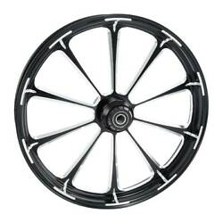 26and039and039 Front Wheel Rim Hub Single Disc Fit For Harley Electra Glide 08-21 Non Abs