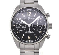 Bell&ross Vintage 126 Back Schedule Black Dial Automatic Menand039s Watch G102892