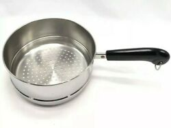 New Revere Ware Long Handle Steamer 2 Or 3 Qt Pot / Pan Stainless Steel Cookware
