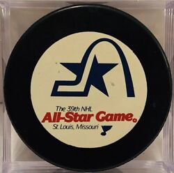 St. Louis Blues 39th 1988 Nhl All-star Game Puck Mario Lemieux Mvp Patrick Roy