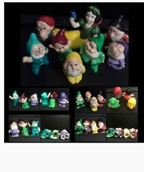 Rare Snow White And The Seven Dwarfs Porcelain/ceramic Figurines, Used Collect