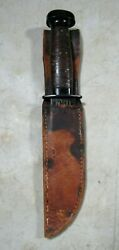 Vintage Wwii H Boker And Co Usa Usn Navy Fixed Blade Deck Knife