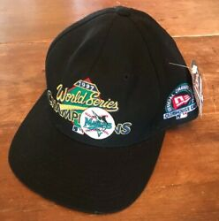 Official Championship Clubhouse Cap 1997 World Series Champions Marlins Hat Nwt