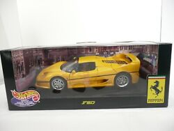 1999 Vintage Hot Wheels Yellow Ferrari F50 Collectible 118 Scale