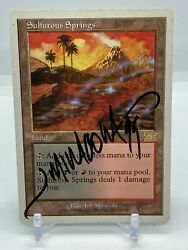 Sulfurous Springs Mtg Sixth Edition Lp Signed By Jeff Miracola