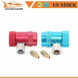 Refrigerant Connector Air Conditioner Replacement Adapter For R1234yf 2pcs