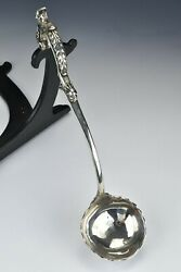George Ii Period English Sterling Silver Soup Ladle Dated 1753 Bust And Armorial