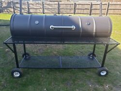 Extra Large Double Barrel Bbq Grill