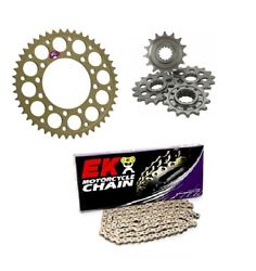 Yamaha R1 R1m 15 16 17 18 19 20 Renthal And Ek 520 Pitch Race Chain And Sprocket