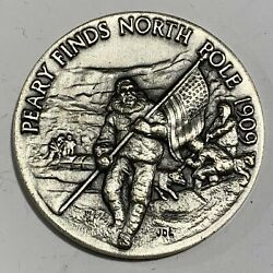 Longines-wittnauer Peary Finds North Pole 1909 Sterling 1 Oz Roundandnbsp