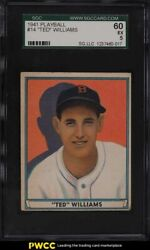 1941 Play Ball Ted Williams 14 Sgc 5 Ex