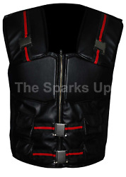 New Blade Movie Wesley Snipes Tactical Casual Military Casual Black Leather Vest