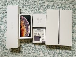 Iphone Xs Max 256gb Gold+ Ipad 32gb Cell + Iwatch Gps+cell + Airpods - Unl.