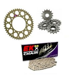 Bmw S1000rr 2010-2011 Renthal And Ek 520 Pitch Race Chain And Sprocket Kit