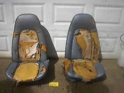 Amc 1970 1971 Javelin And Amx High Back Seats Cores No Tracks Or Backs For Pair