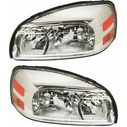 For Chevy Uplander Headlight 2005 06 07 08 2009 Lh And Rh Pair Composite Halogen