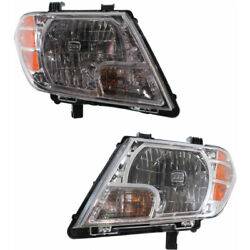 For Nissan Frontier Headlight 2009-2018 Lh And Rh Pair Halogen Capa Ni2502188