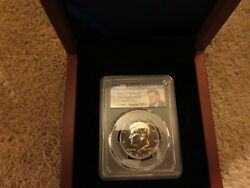 2014 P Kennedy 50c High Relief 50th Anniversary Pcgs Sp69 Chicago Ana Show