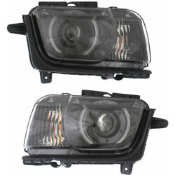 For Chevy Camaro Headlight 2010-2015 Lh And Rh Pair Hid W/ Hid Kit Capa Gm2502340