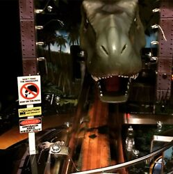 Don't Feed The Dinosaurs Caution Sign Mod For Stern's Jurassic Park Pinball