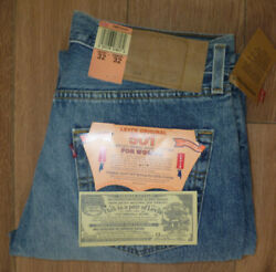 Womens 90s Levi 501 W32 L32 Made In Usa Blue High Waist Vintage Jeans Grade A