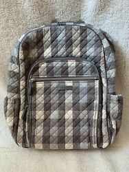 Vera Bradley Campus Backpack in Neutral Buffalo Check Plaid $65.00
