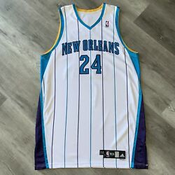 Team Issue Morris Peterson New Orleans Hornets Jersey 2009-10 Adidas 50 +4