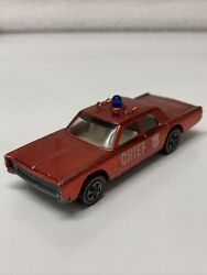 Hot Wheels Redline Cruiser Fire Dept. Chief 1968 Red Made In United States